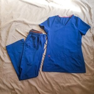heartSoul Scrub Set - Royal Blue- XXS top/XS pants